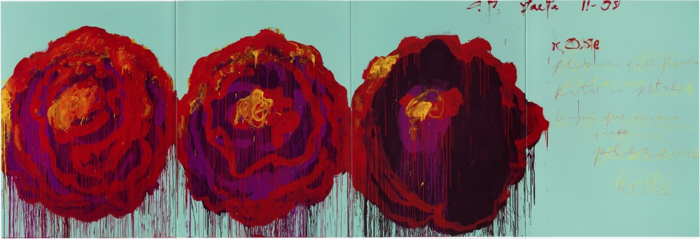 cy t red purple roses