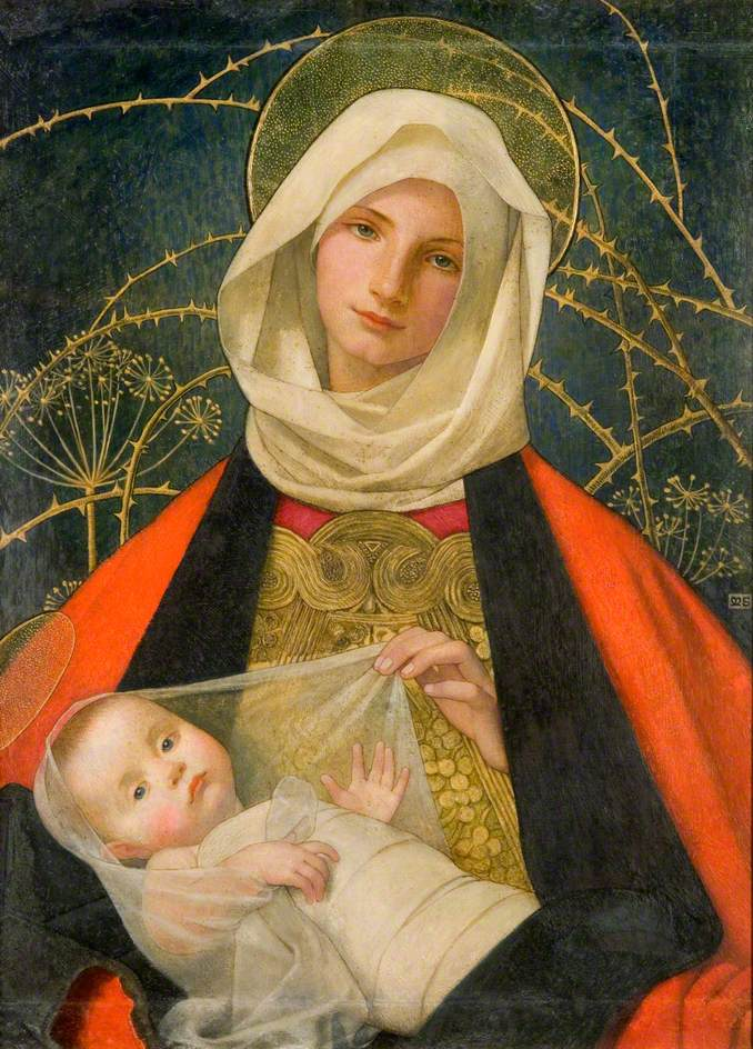 Stokes, Marianne, 1855-1927; Madonna and Child