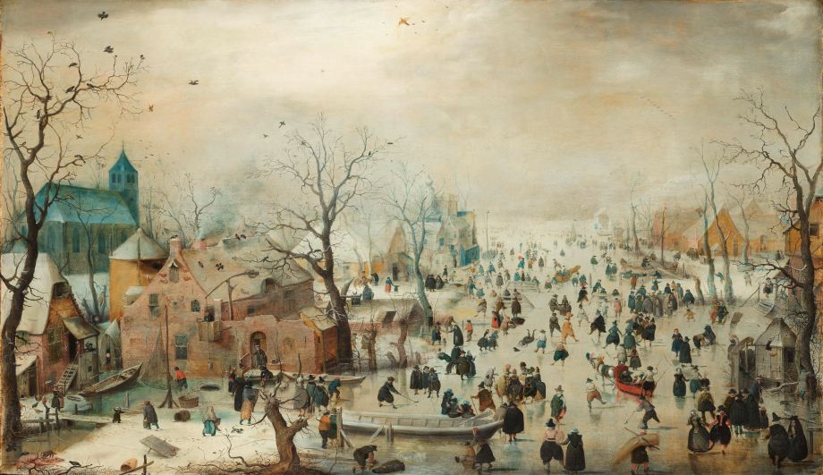 Avercamp- winter landscape with ice skaters