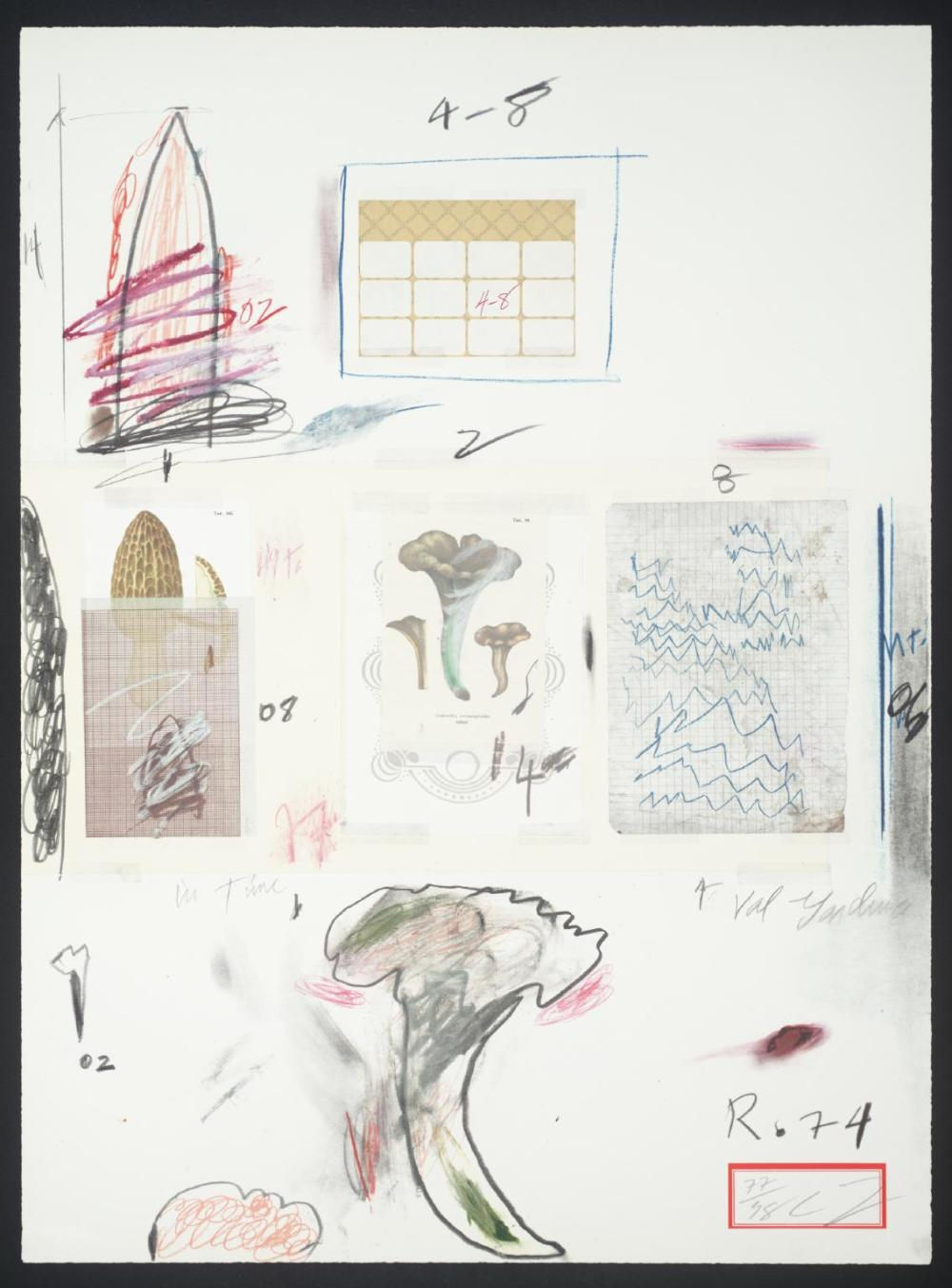 No. VI 1974 by Cy Twombly 1928-2011